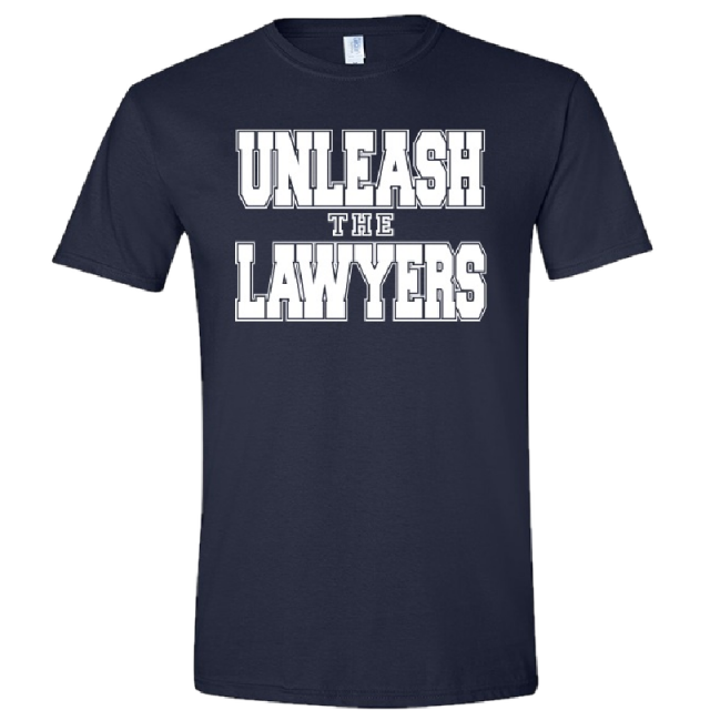 Nancy Grace Navy Tee- Unleash the Lawyers