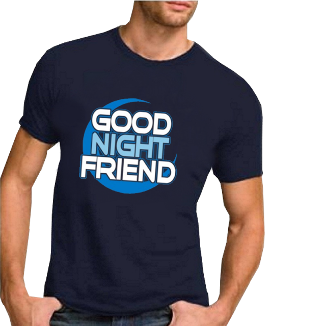 Nancy Grace Unisex Navy Tee- Good Night Friend