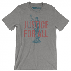Crime Online Justice For All Heather Grey Tee