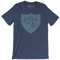 Crime Online Justice For All Indigo Tee