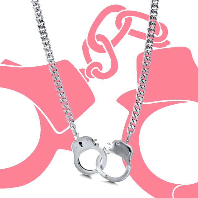 Nancy Grace Handcuff Necklace