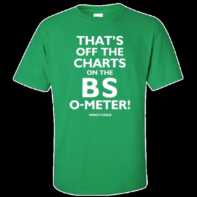 Nancy Grace Irish Green Tee- That's Off The Charts...