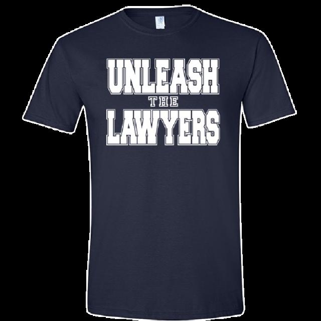 Nancy Grace Navy Tee- Unleash the Lawyers